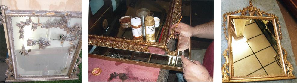 restoration of vintage gilt mirror